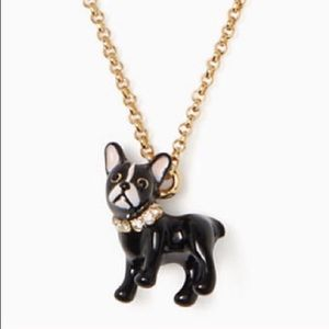 NWT Kate Spade Ma Cherie Frenchie/Boston Necklace